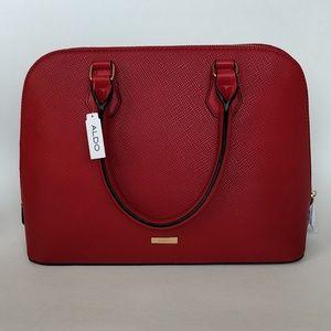 NWT Aldo Minitonas Red Top Handle Handbag